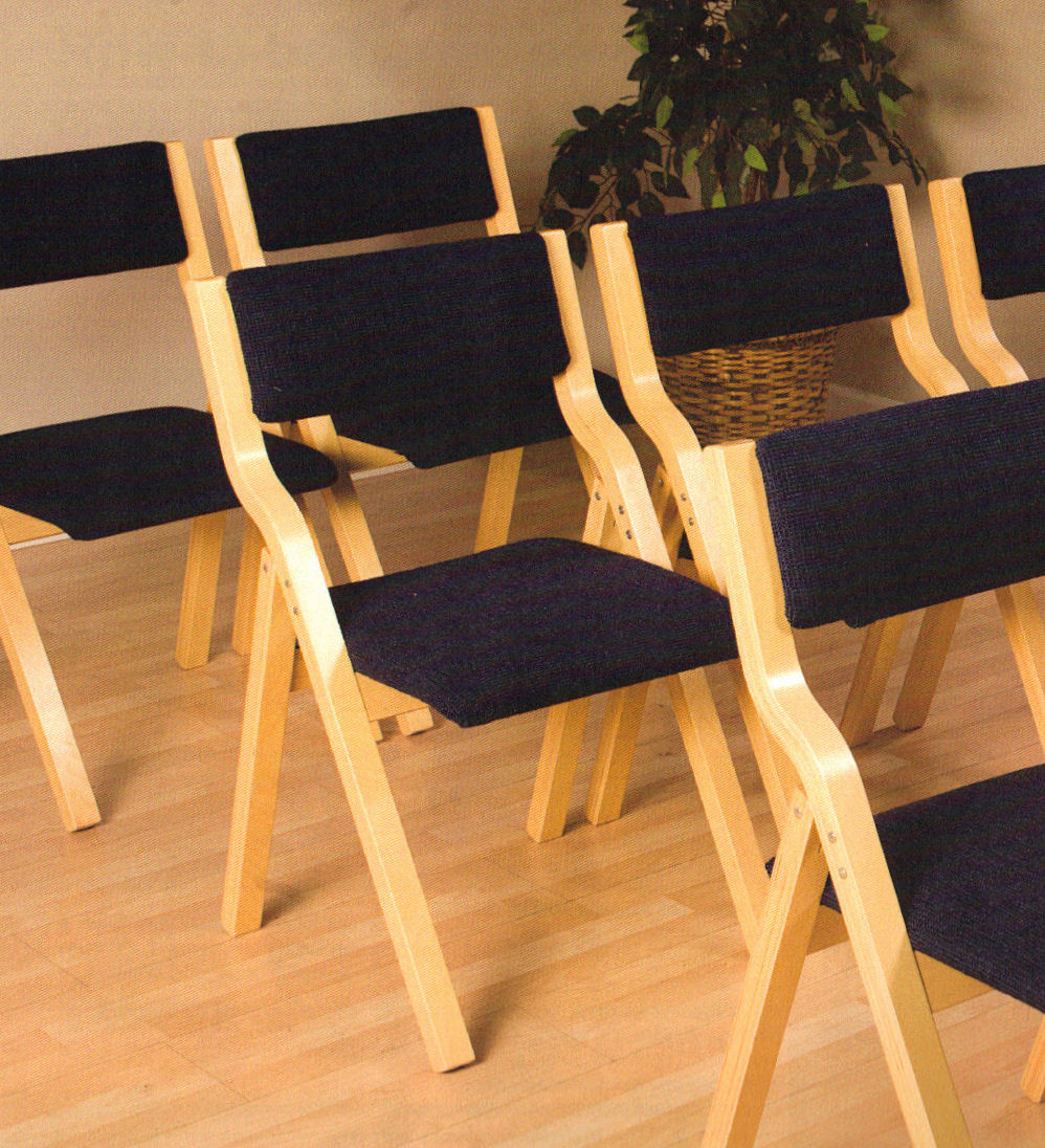 University Loft Company Upholstered Folding Chairs