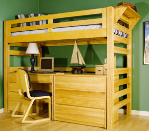 University Loft Graduate Series Loft Bed with Bed Rails
