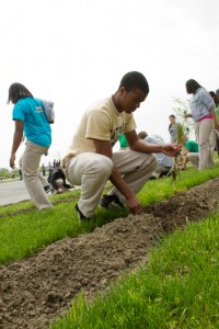 Planting trees are just one aspect of our annual Arbor Day celebration.
