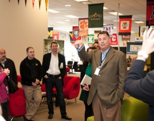 Company founder James Jannetides giving GLACUHO members a tour of our Greenfield, IN facility.