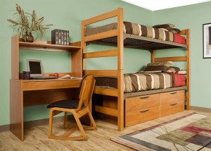 Greenfield Series wild cherry Bunk Bed