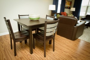 Meridian Series dining table with Hampton Chairs