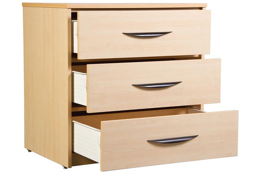 Greenfield 3 Drawer Chest Open-Drawers