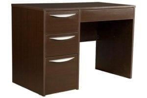 Greenfield Pedestal Desk in Midnight Espresso