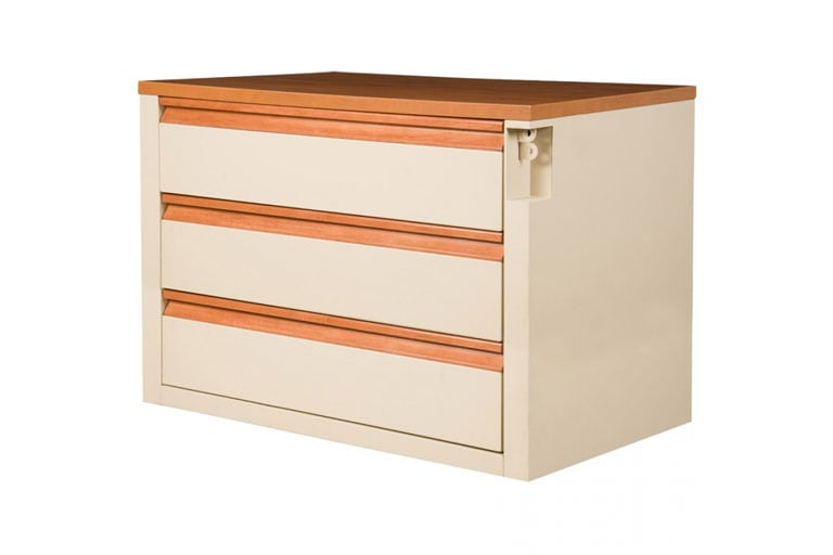 Metal Series 3 Drawer Chest