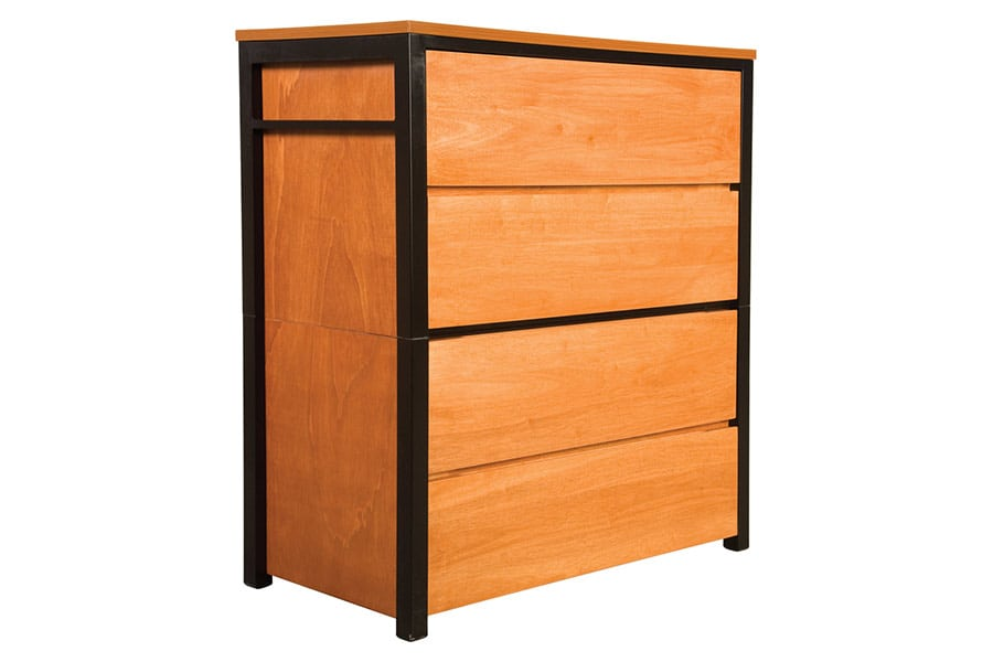 Metropolitan 4 Drawer Chest Quarter