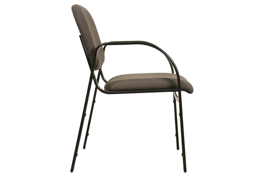 Metal Legged Chair with Arms Side View