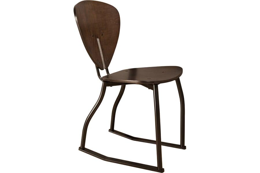 Espresso Teardrop 2 Position Chair